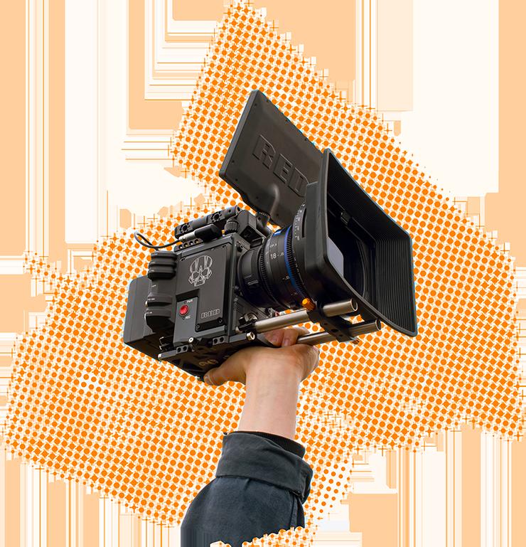 Drumstix on Red Camera held high